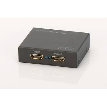 Digitus DS-46304 2 Port HDMI 4K 4096x2160 HDCP 1.3 HDMI Video Çoklayýcý Splitter