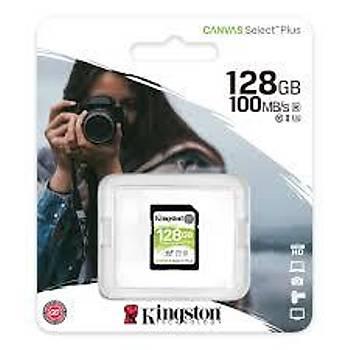 Kingston SDS2/128GB 128 GB SDXC Class 10 UHS-I 100Mb/s Canvas Select Plus SD Kart