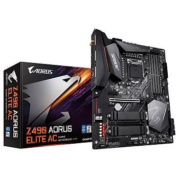 Gigabyte Z490 AORUS ELITE AC SC-1200 Z490 DDR4 5000(OC) M2 Wi-Fi ATX Intel Anakart