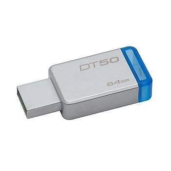Kingston DT50/64GB 64 GB Datatraveler 50 100/15MB/s USB 3.2 Gen1 Flash Bellek
