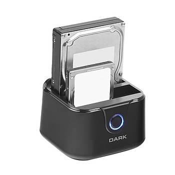 Dark DK-AC-DSD24C StorexX D24C 2 x  3.5/2.5 inch Usb 3.0 Klon Destekli Disk Ýstasyonu