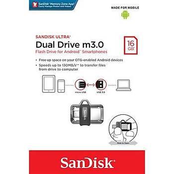 Sandisk SDDD3-016G-G46 16 GB New Dual Drive microUSB USB 3.0 USB Flash Bellek
