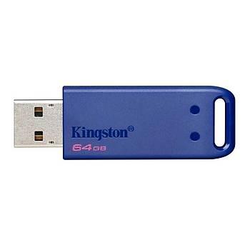 Kingston KC-U2E64-6XB 64 GB DataTraveller USB 3.0 Blue Flash Bellek