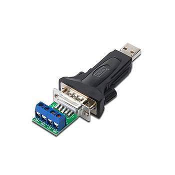 Digitus DA-70157 USB 2.0 to R485 Erkek-Klemens 0.80cm Kablolu Çevirici Adaptör