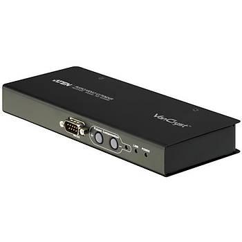 Aten VE500R 300 Mt VGA to CAT 1280x1024 VGA SES Alýcý Ünitesi Sinyal Uzatma Cihazý
