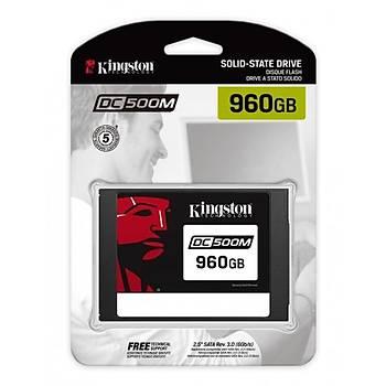 Kingston SEDC500M/960G 960 GB 555/525Mb/s 2.5 inch SATA SSD Sunucu Harddisk
