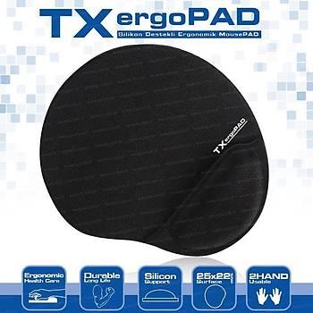 Tx TXACMPAD01 Ergopad Plus 250x220x5mm Siyah Bilek Jel Destekli Mousepad