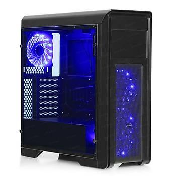 Dark DKCHN10PRO750BR N10 Pro 750W 80+ Bronze 3x12cm Mavi Ledli Fan Oyuncu Kasasý