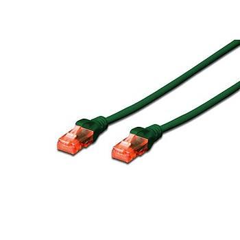 Digitus DK-1617-0025/G 0,25 Mt CAT6 AWG26/7 LSZH Utp Yeþil Patch Cord Kablo