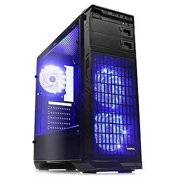 Dark Dkchn5 Psu Yok 3X12Cm Fan Ledli Full Cam Yan Panel Atx Kasa