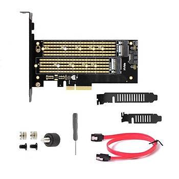 Bigboy BTC-M2PENVST PCIe 3.0 x4 to PCI M.2 x 4-M Sata B Key 2xM.2 22x80 Çevirici Ünite