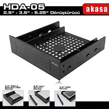 Akasa AK-HDA-05 5.25 Multi Fonks 2.5/3.5 inch SSD HDD Dönüþtürücü Aparatý
