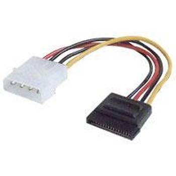 Digitus AK-430300-002-M 0.15 Mt IDE 4 Pin to Mollex SATA 15 Pin Güç Kablosu