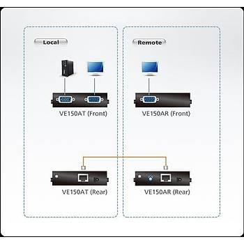 Aten VE150A 150 Mt VGA to CAT 1280x1024 VGA Sinyal Uzatma Cihazý