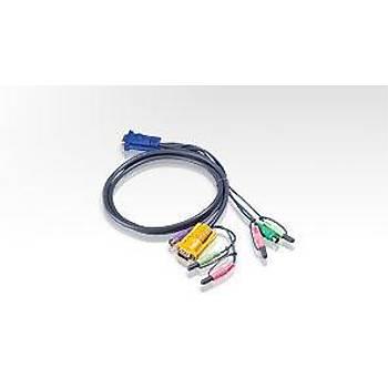 Aten 2L-5302P 1.8 Mt PS/2 Klavye Mouse Monitör VGA KVM Switch Kablosu