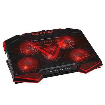 Tx TXACNBVMAX 11-17 inch V-MX 5x Kýrmýzý Led Fan 6X Yükseklik Ayarlý 2xUSB Notebook Soðutucu