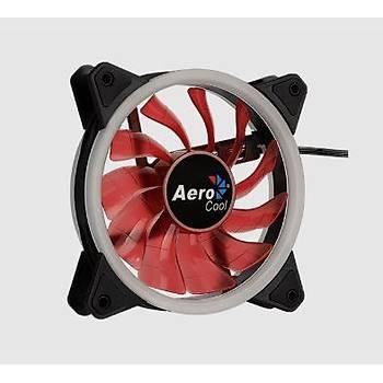 Aerocool AE-CFRVRD Orbit Daul Ring 12 cm Kýrmýzý Ledli Kasa Faný
