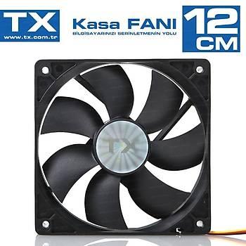 Tx TXCCF12BK 12cm Fanlý Siyah Kasa Faný