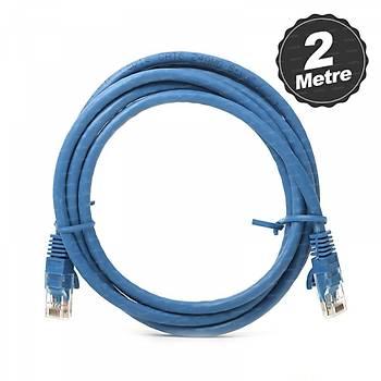 Dark DK-CB-NT6U200BU 2 Mt CAT6 Cu AWG24/7 UTP Mavi Patch Cord Kablo