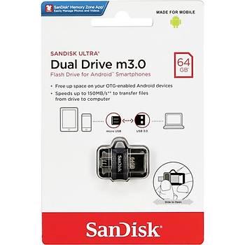Sandisk SDDD3-064G-G46 64 GB Ultra Dual Drive USB 3.1 Flash Bellek