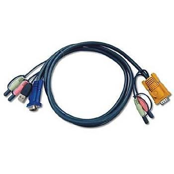 Aten 2L-5303U 3 Mt USB Klavye Mouse Monitör VGA KVM Switch Kablosu