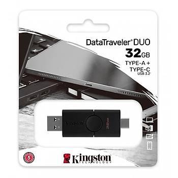 Kingston DTDE/32GB 32GB Duo USB 3.2 Gen 1 Type C Datatraveler USB Flash Bellek