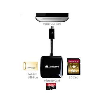 Transcend TS-RDP9K  RDF9 USB 2.0 Siyah Kart Okuyucu