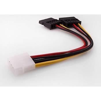 S-Link SL-P516 Ýkili Sata Power Kablosu