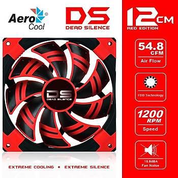Aerocool AE-CFDS120RD Dead Sýlence 12Cm Kýrmýzý Sessiz Kasa Faný