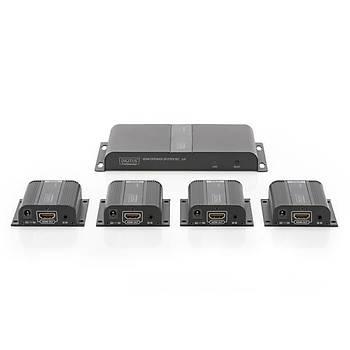 Digitus DS-55303 40 Mt RJ45 to HDMI 4xAlýcý 1xVerici 1080p 3D HDCP 1.4 HDMI Sinyal Uzatma Cihazý