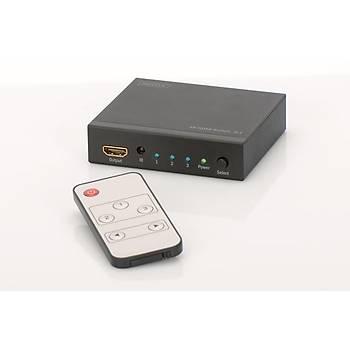 Digitus DS-48304 3 Port 3 Griþi 1 Çýkýþ HDMI Ultra HD 4K 3D HDMI Görüntü Çoklayýcý Splitter