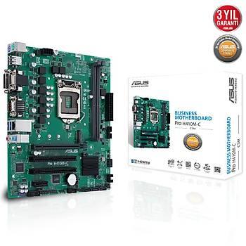 Asus PRO H410M-C/CSM-SI SC-1200 H410 DDR4 2933Mhz M2 ITX Anakart
