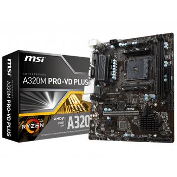 Msý A320M PRO-VD PLUS SC-Am4 A320 DDR4 3200(OC) SATA microATX Ryzen AMD Anakart