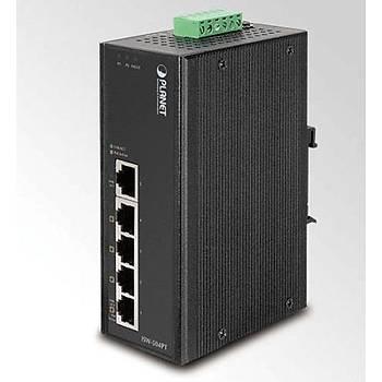 Planet PL-ISW-504PT 5 Port 10/100Base-TX 4 Port PoE 12W PoE Endüstriyel Switch