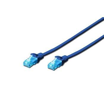 Beek BC-U5010B 1 Mt CAT5E U/UTP AWG26 Mavi Patch Cord Kablo