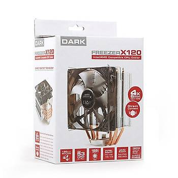 Dark DKCCX120AM4 Freezer X120 Am4 Ryzen 12cm Mavi Led Fanlý Ýþlemci Soðutucusu