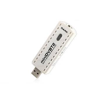 Dark DK-AC-TVUSBDVBT2 MiniDVBT2 Dijital Karasal Yayýn Uyumlu USB HD Tv Kartý
