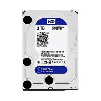 Western Digital WD30EZRZ 3 TB 5400Rpm 64MB SATA Blue Bilgisayar Harddisk