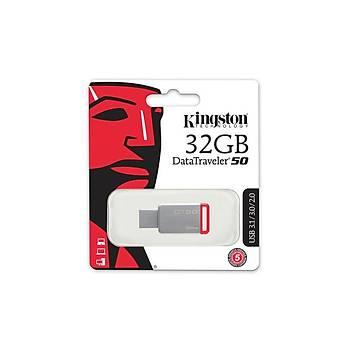 Kingston DT50/32GB 32 GB Datatraveler 50 100/15Mb/s USB 3.2 Gen1 Flash Bellek
