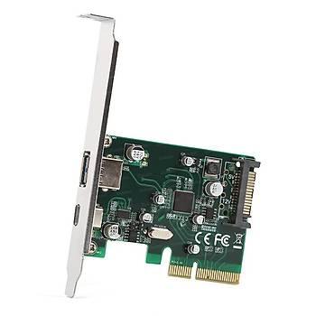 Dark DK-AC-U31P U31P 2 x USB 3.1 Type A + 1 x Type C Portlu PCI Express Kartý