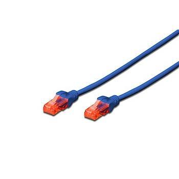 Digitus DK-1617-100/B 10 Mt CAT6 AWG26/7 U/Utp LSZH Mavi Patch Cord Kablo