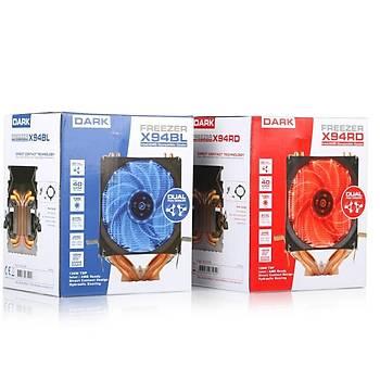 Dark DKCCX94BL Freezer X94 Intel/Amd/Ryzen 9.2 cm Mavi Led Fanlý Ýþlemci Soðutucusu