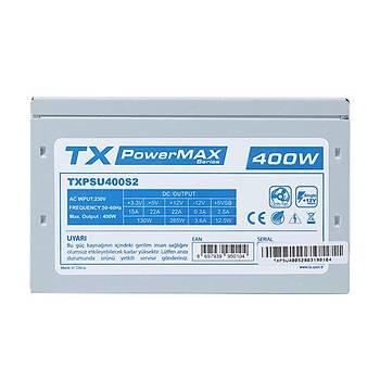 Tx TXPSU400S2 400W PowerMax Serisi 12cm Fanlı Güç Kaynağı