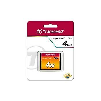 Transcend TS4GCF133 4 GB CF133 133X 50/20Mb/s CompactFlash CompactFlash Hafýza Kartý