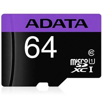 Adata AUSDX64GUICL10RA1 64GB Premier 80Mb/s Class 10 UHS-I microSD Kartý