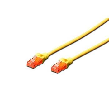 Digitus DK-1617-005/Y 0,50 Mt CAT6 AWG26/7 LSZH Utp Sarý Patch Cord Kablo