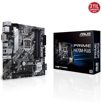 Asus PRIME H470-PLUS SC-1200 H470 DDR4 2933Mhz M2 mATX Intel Anakart