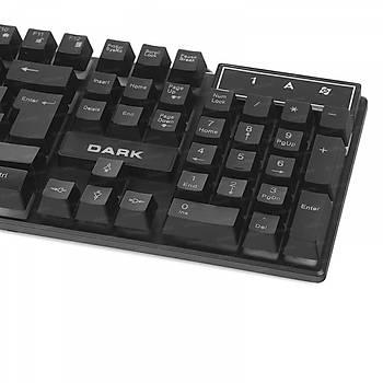 Dark DK-AC-GK1000 USB Q TR Force Mekanik Hisli Rainbow Aydýnlatmalý Oyuncu Klavyesi