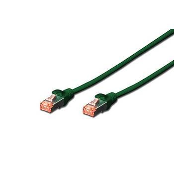 Digitus DK-1644-050/G 5 Mt CAT6A AWG26/7 LSZH S/FTP Yeþil Patch Cord Kablo