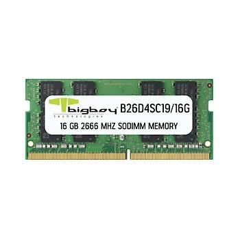 Bigboy B26D4SC19/16G 16 GB DDR4 2666Mhz CL19 Notebook Bellek
